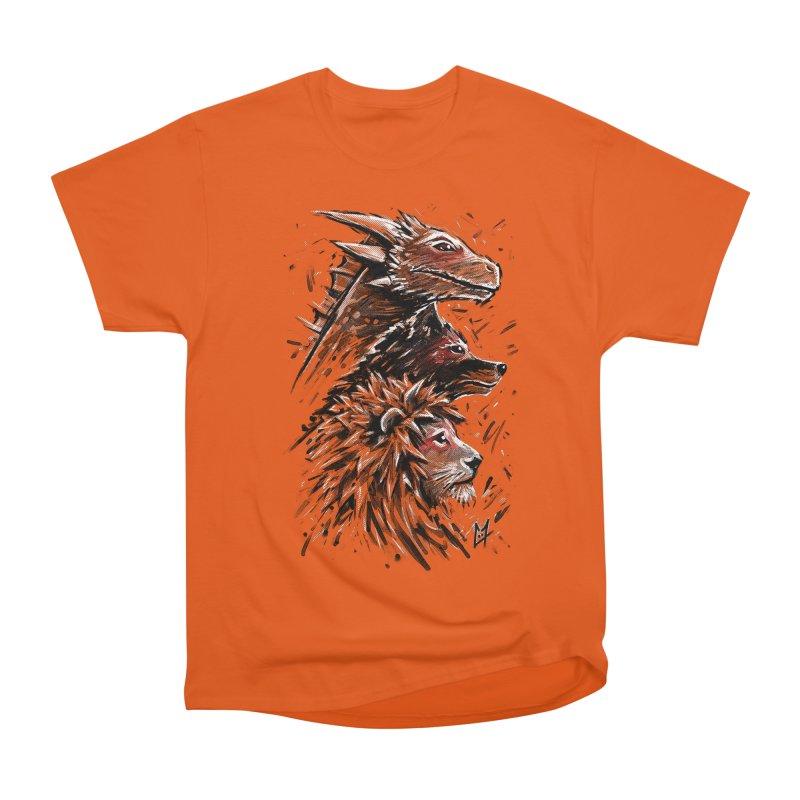 Dragon Wolf Lion Men's Heavyweight T-Shirt by c0y0te7's Artist Shop