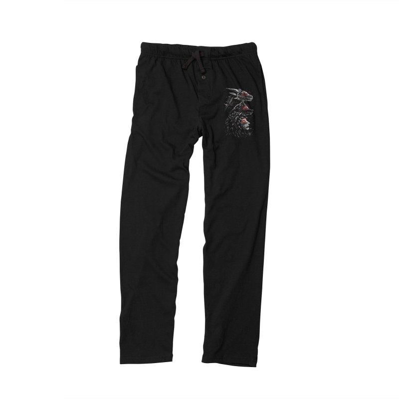 Dragon Wolf Lion Men's Lounge Pants by c0y0te7's Artist Shop