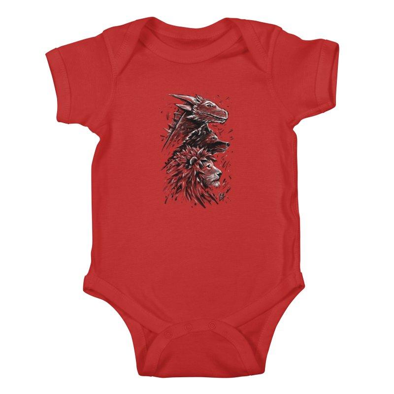 Dragon Wolf Lion Kids Baby Bodysuit by c0y0te7's Artist Shop