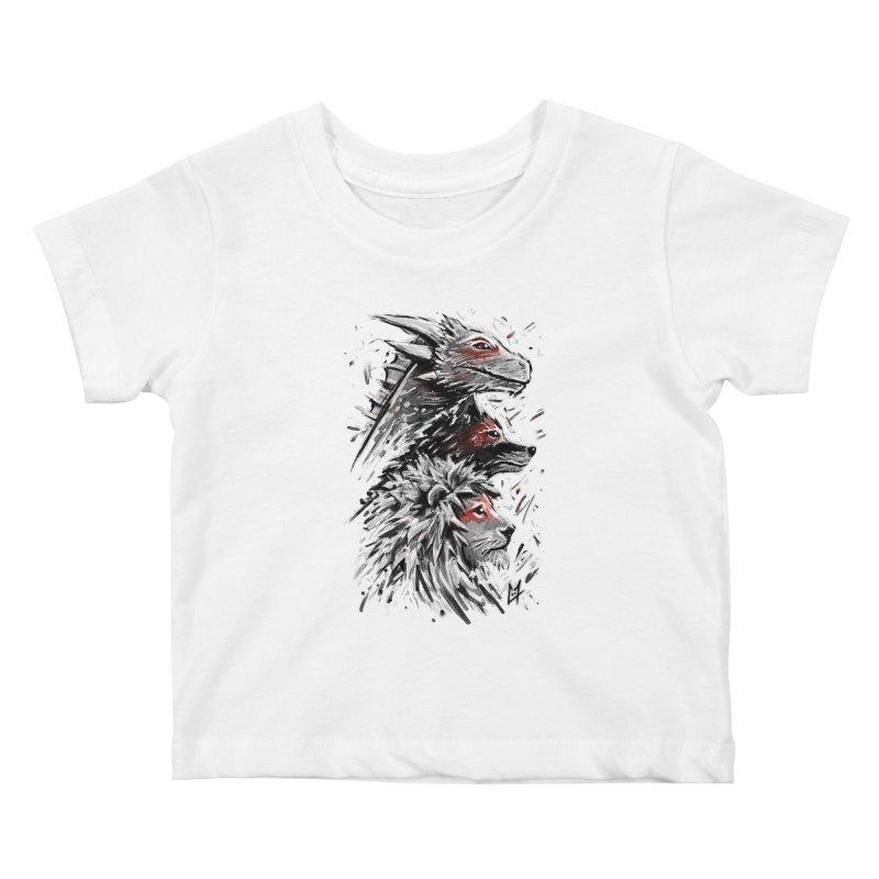 Dragon Wolf Lion Kids Baby T-Shirt by c0y0te7's Artist Shop