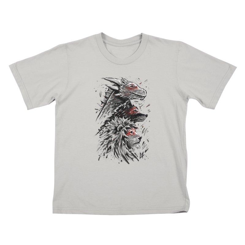 Dragon Wolf Lion Kids T-Shirt by c0y0te7's Artist Shop