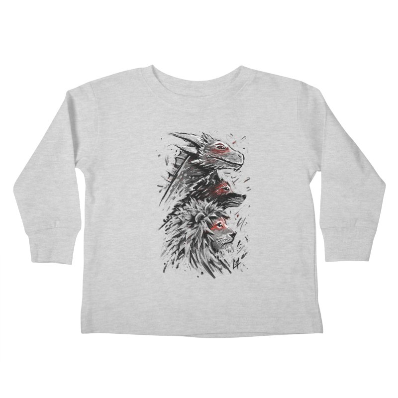 Dragon Wolf Lion Kids Toddler Longsleeve T-Shirt by c0y0te7's Artist Shop