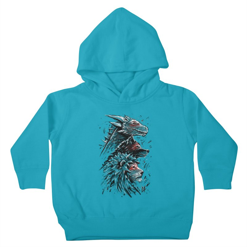 Dragon Wolf Lion Kids Toddler Pullover Hoody by c0y0te7's Artist Shop