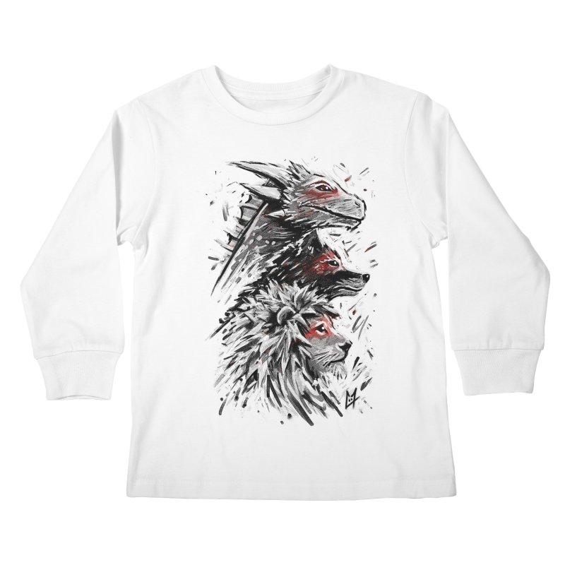 Dragon Wolf Lion Kids Longsleeve T-Shirt by c0y0te7's Artist Shop