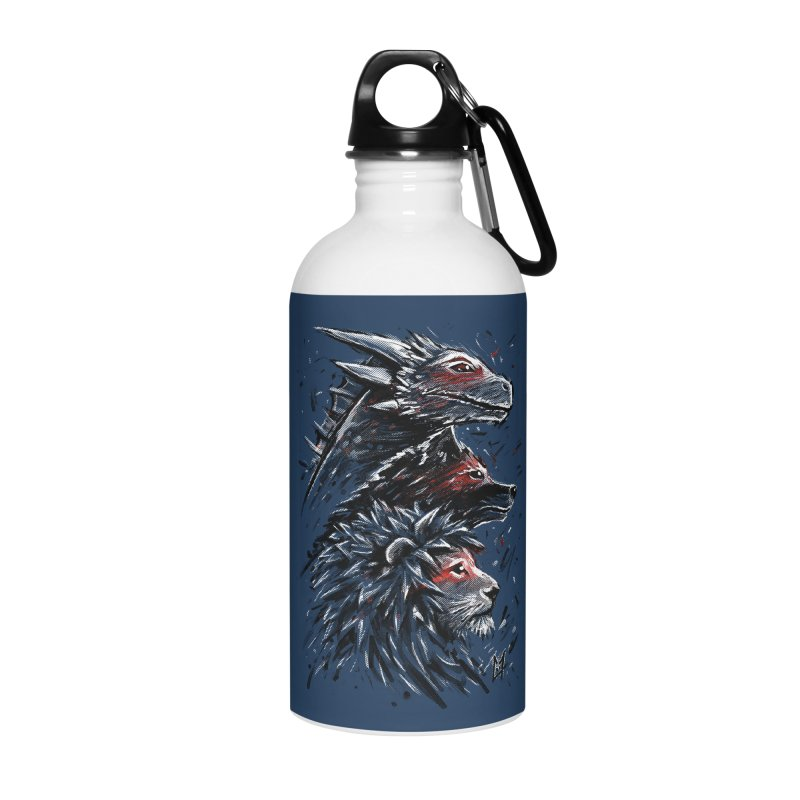 Dragon Wolf Lion Accessories Water Bottle by c0y0te7's Artist Shop