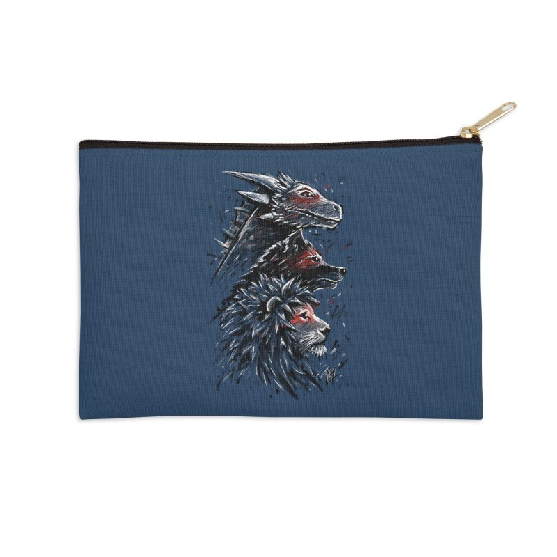 Dragon Wolf Lion Accessories Zip Pouch by c0y0te7's Artist Shop