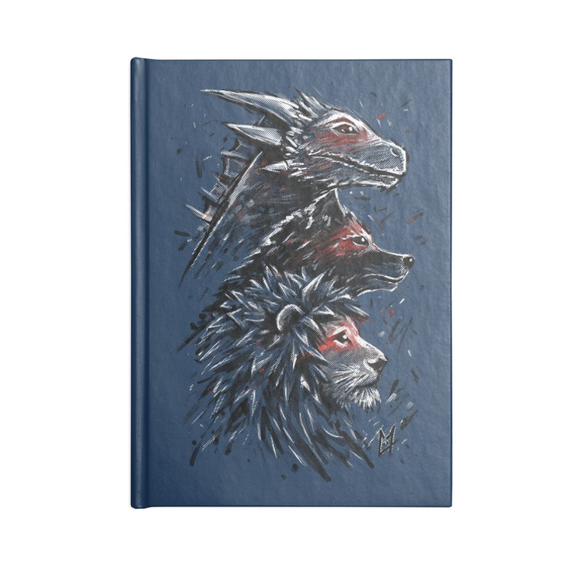 Dragon Wolf Lion Accessories Notebook by c0y0te7's Artist Shop