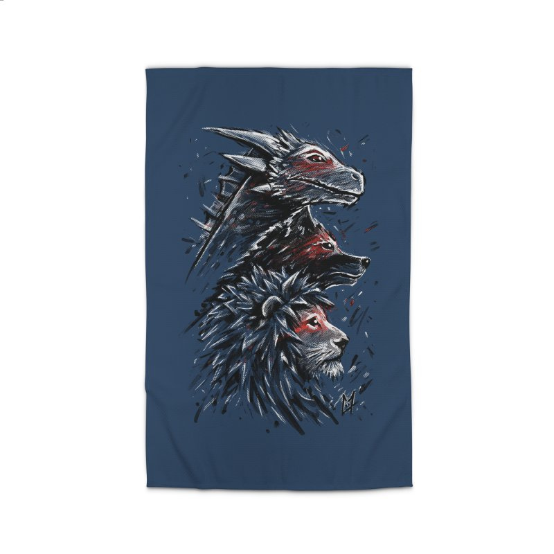 Dragon Wolf Lion Home Rug by c0y0te7's Artist Shop
