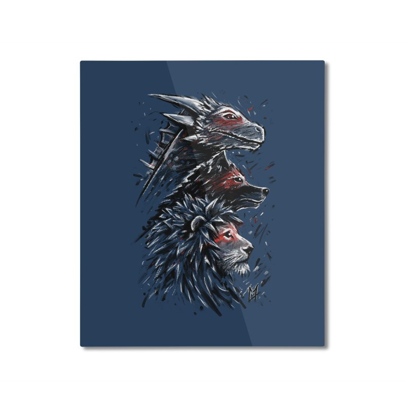 Dragon Wolf Lion Home Mounted Aluminum Print by c0y0te7's Artist Shop
