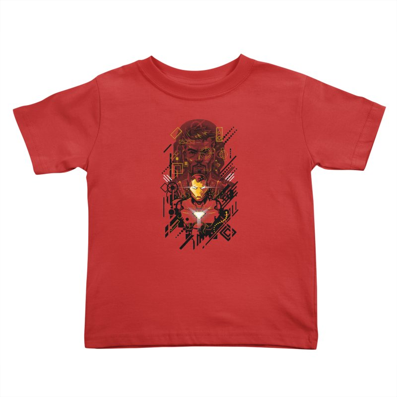 Man Under Iron Kids Toddler T-Shirt by c0y0te7's Artist Shop