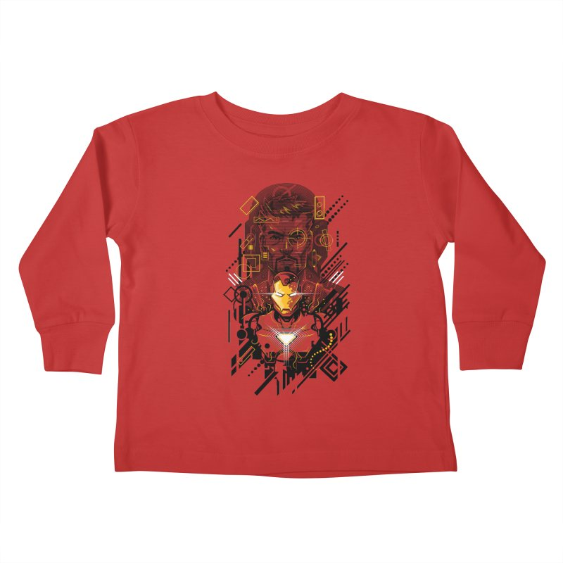 Man Under Iron Kids Toddler Longsleeve T-Shirt by c0y0te7's Artist Shop