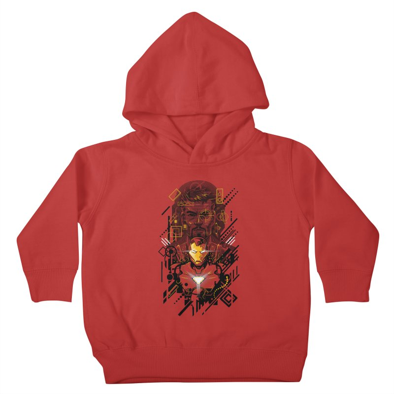 Man Under Iron Kids Toddler Pullover Hoody by c0y0te7's Artist Shop