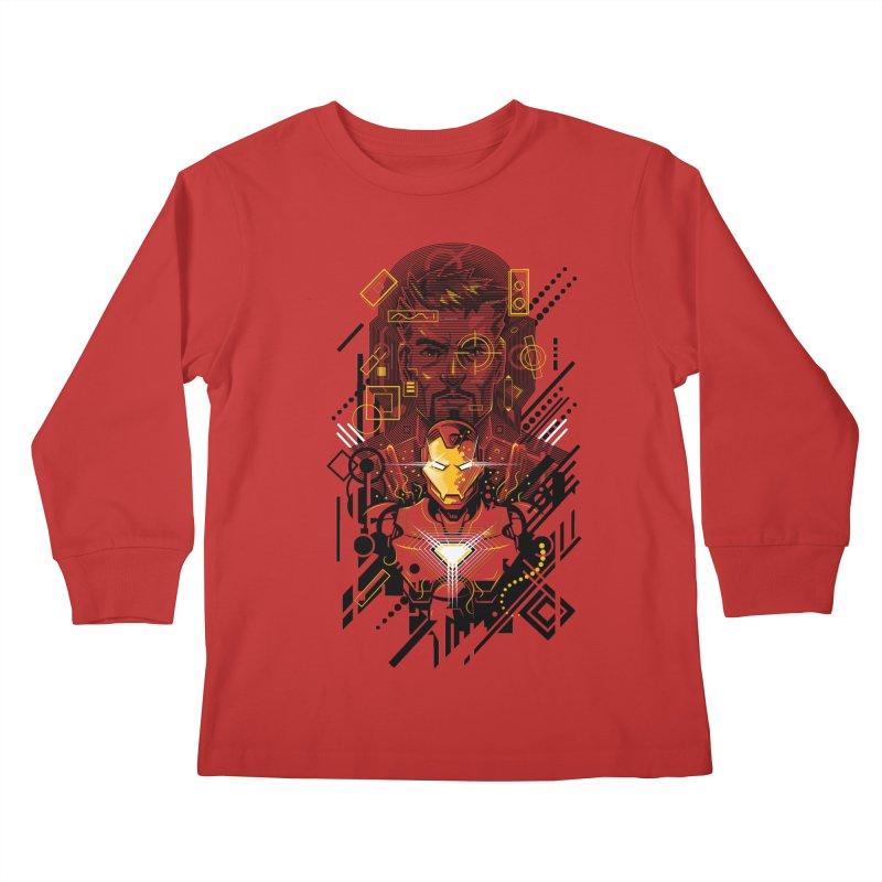 Man Under Iron Kids Longsleeve T-Shirt by c0y0te7's Artist Shop