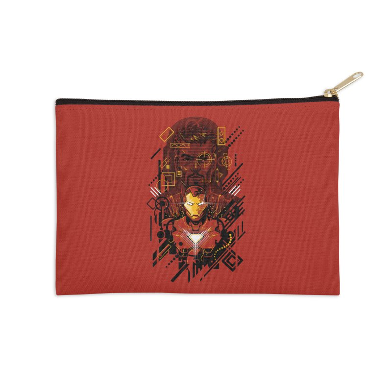 Man Under Iron Accessories Zip Pouch by c0y0te7's Artist Shop