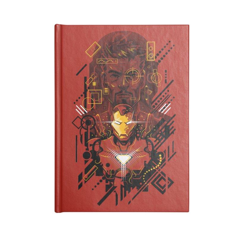 Man Under Iron Accessories Notebook by c0y0te7's Artist Shop
