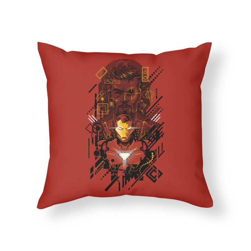 Man Under Iron Home Throw Pillow by c0y0te7's Artist Shop