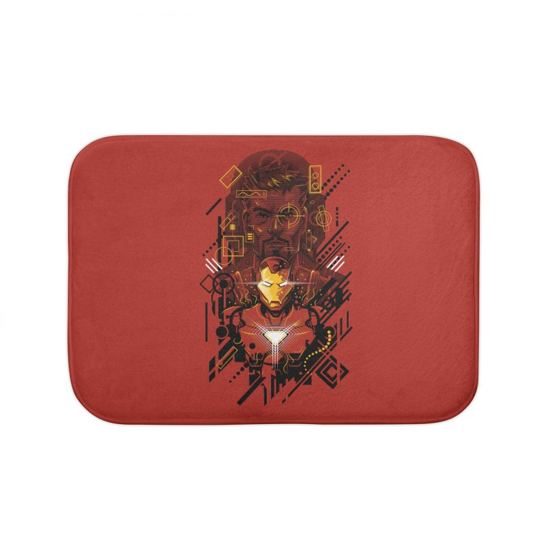 Man Under Iron Home Bath Mat by c0y0te7's Artist Shop