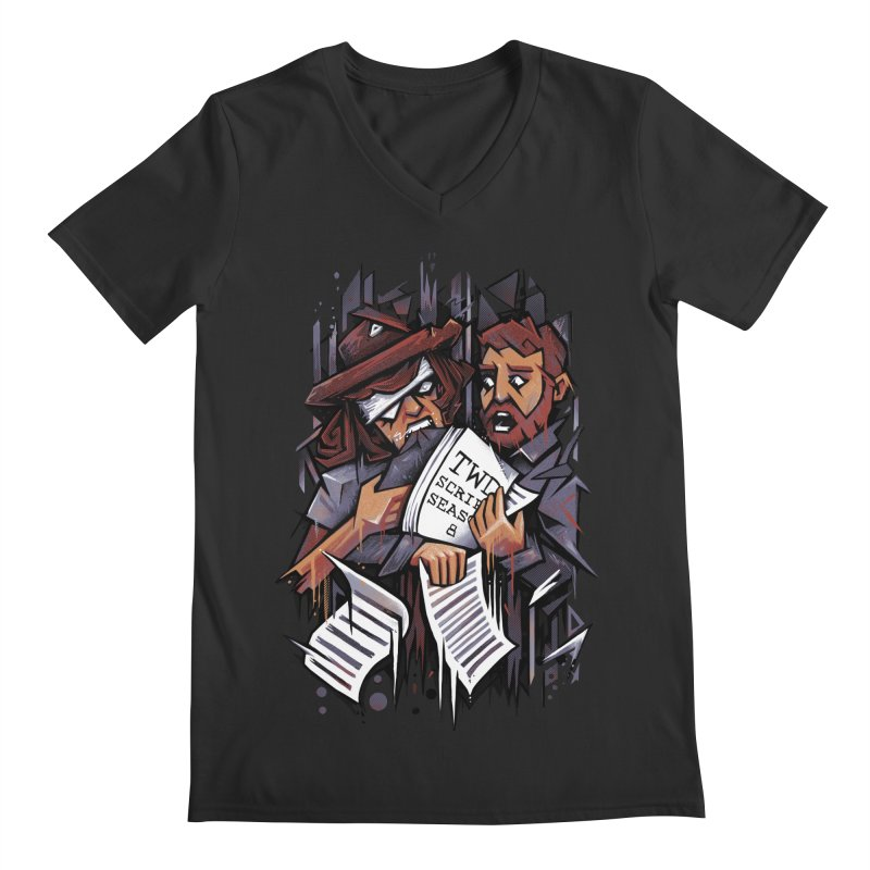 Zombie Carl VS Showrunner Men's V-Neck by c0y0te7's Artist Shop