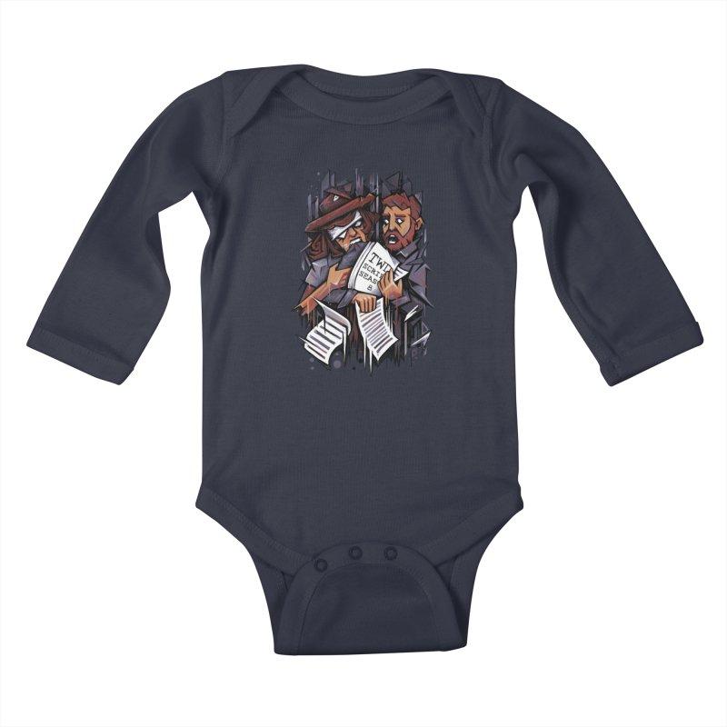 Zombie Carl VS Showrunner Kids Baby Longsleeve Bodysuit by c0y0te7's Artist Shop