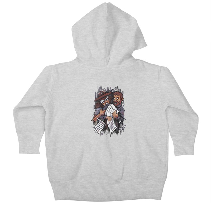 Zombie Carl VS Showrunner Kids Baby Zip-Up Hoody by c0y0te7's Artist Shop