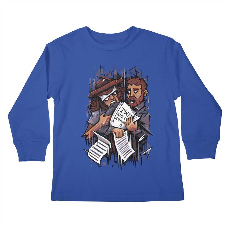 Zombie Carl VS Showrunner Kids Longsleeve T-Shirt by c0y0te7's Artist Shop
