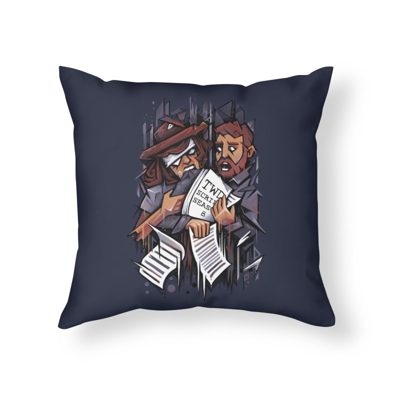 Zombie Carl VS Showrunner Home Throw Pillow by c0y0te7's Artist Shop