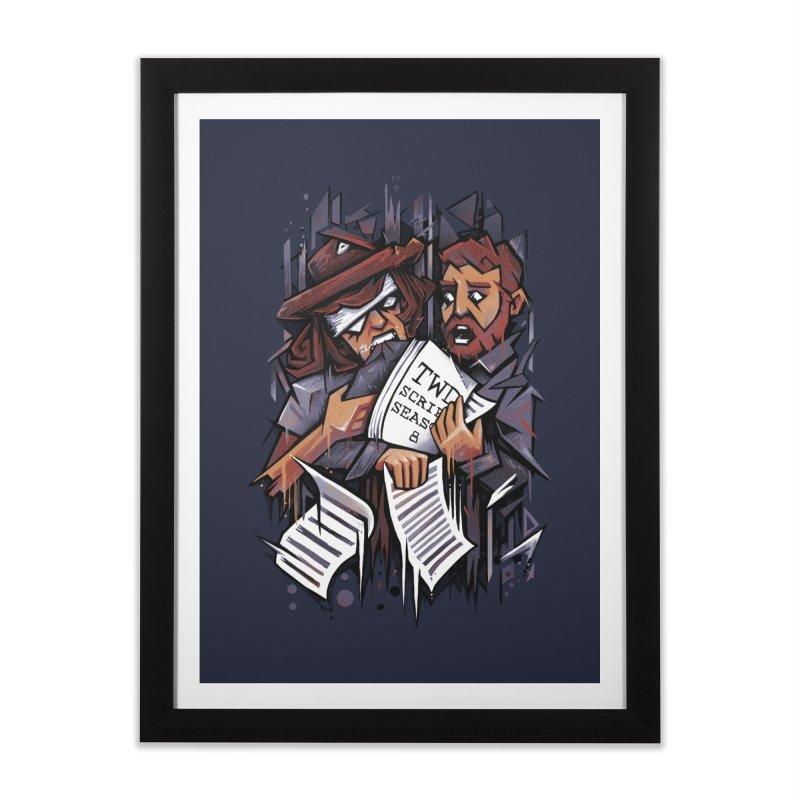 Zombie Carl VS Showrunner Home Framed Fine Art Print by c0y0te7's Artist Shop