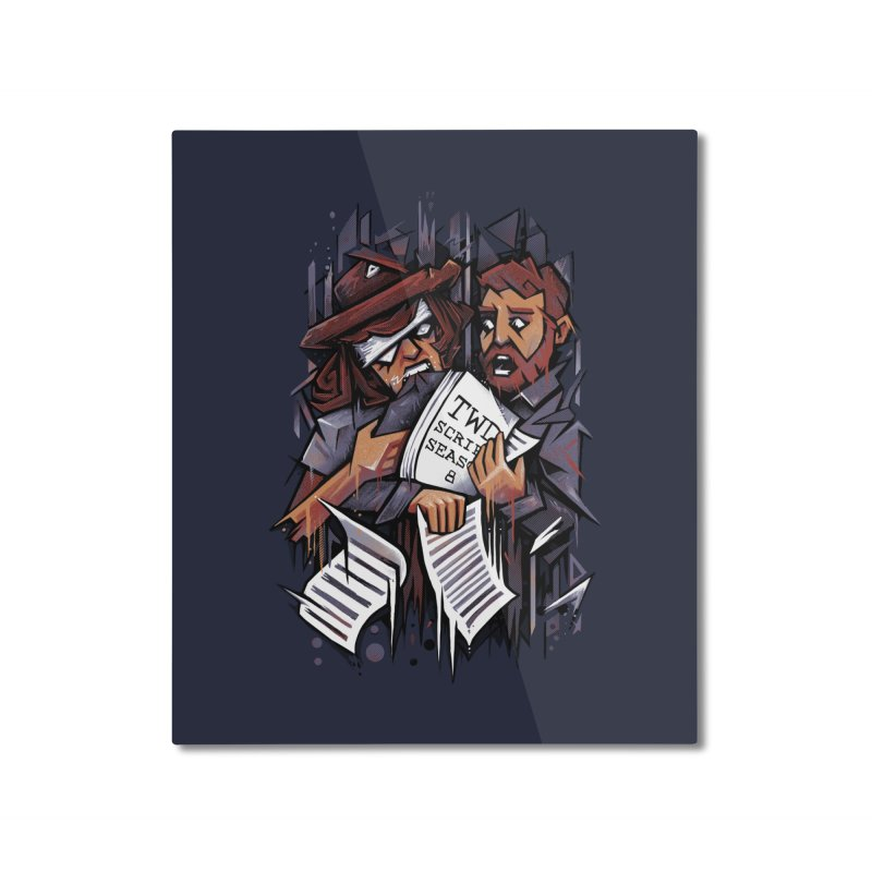 Zombie Carl VS Showrunner Home Mounted Aluminum Print by c0y0te7's Artist Shop