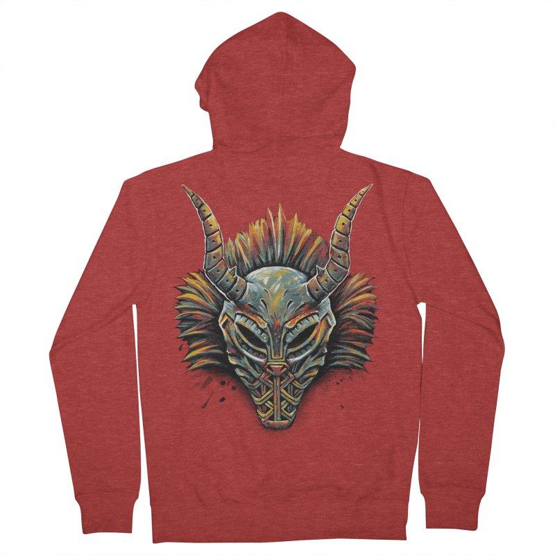 Killmonger Tribal Mask Women's Zip-Up Hoody by c0y0te7's Artist Shop