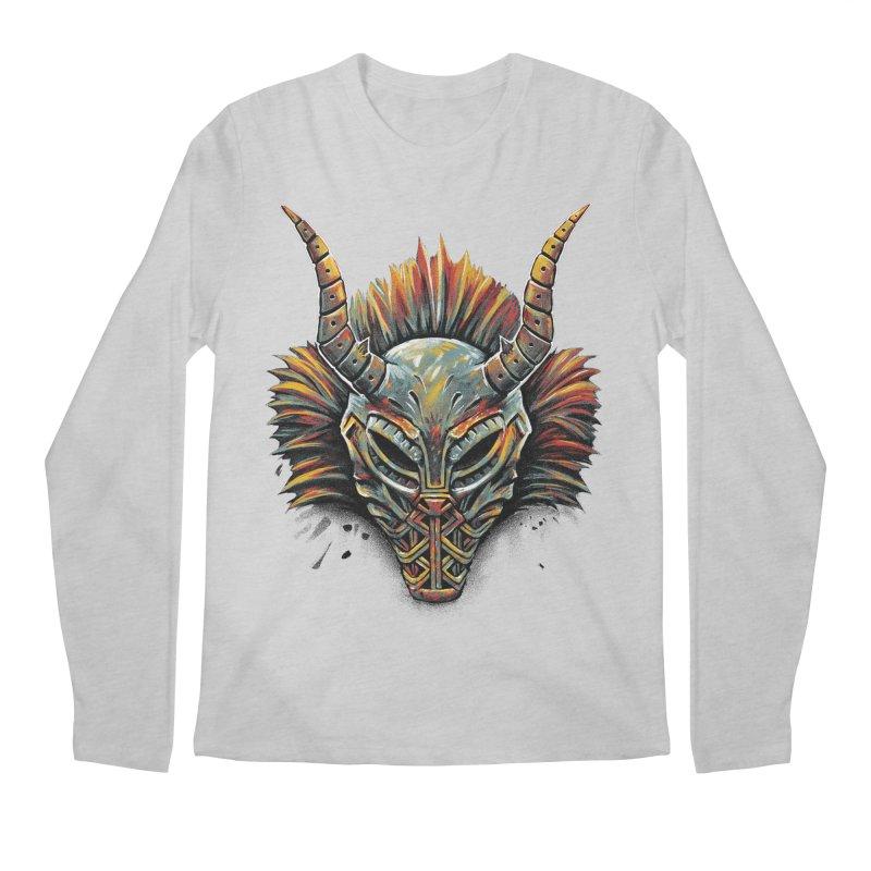 Killmonger Tribal Mask Men's Longsleeve T-Shirt by c0y0te7's Artist Shop