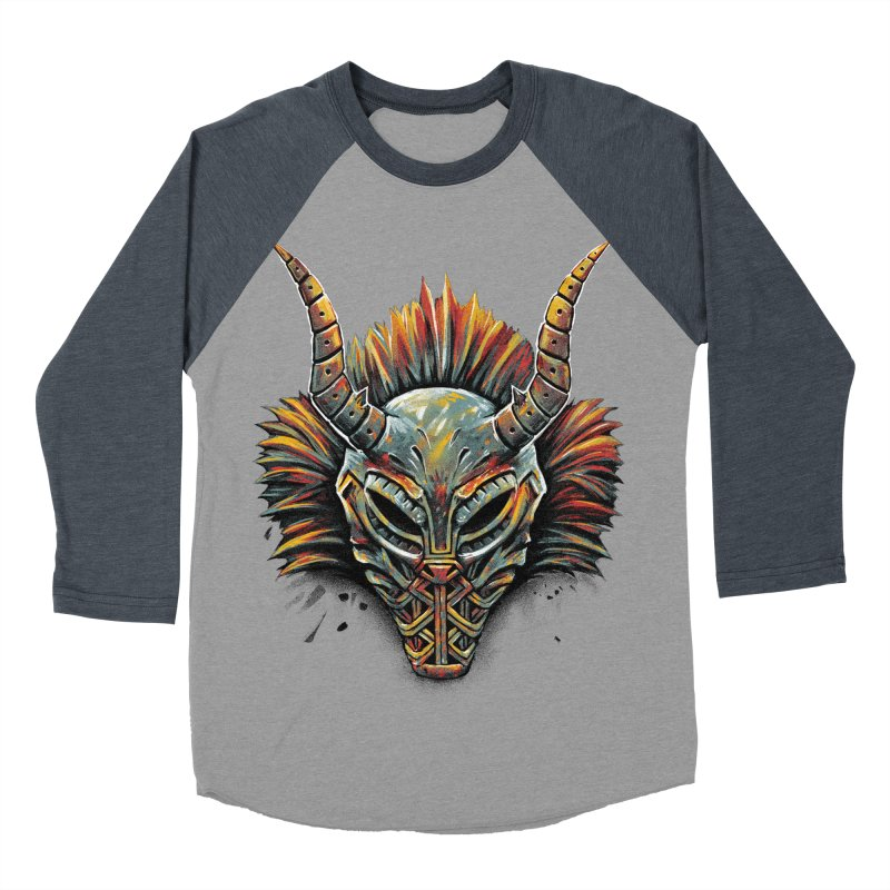 Killmonger Tribal Mask Women's Baseball Triblend T-Shirt by c0y0te7's Artist Shop