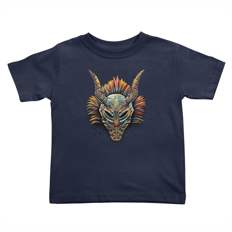 Killmonger Tribal Mask Kids Toddler T-Shirt by c0y0te7's Artist Shop