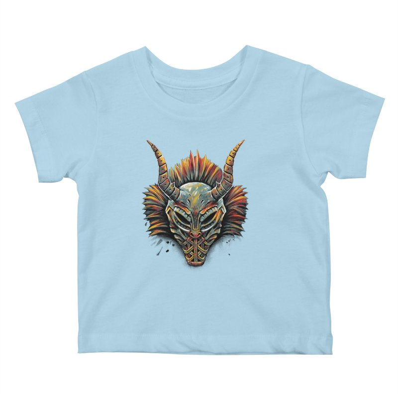 Killmonger Tribal Mask Kids Baby T-Shirt by c0y0te7's Artist Shop