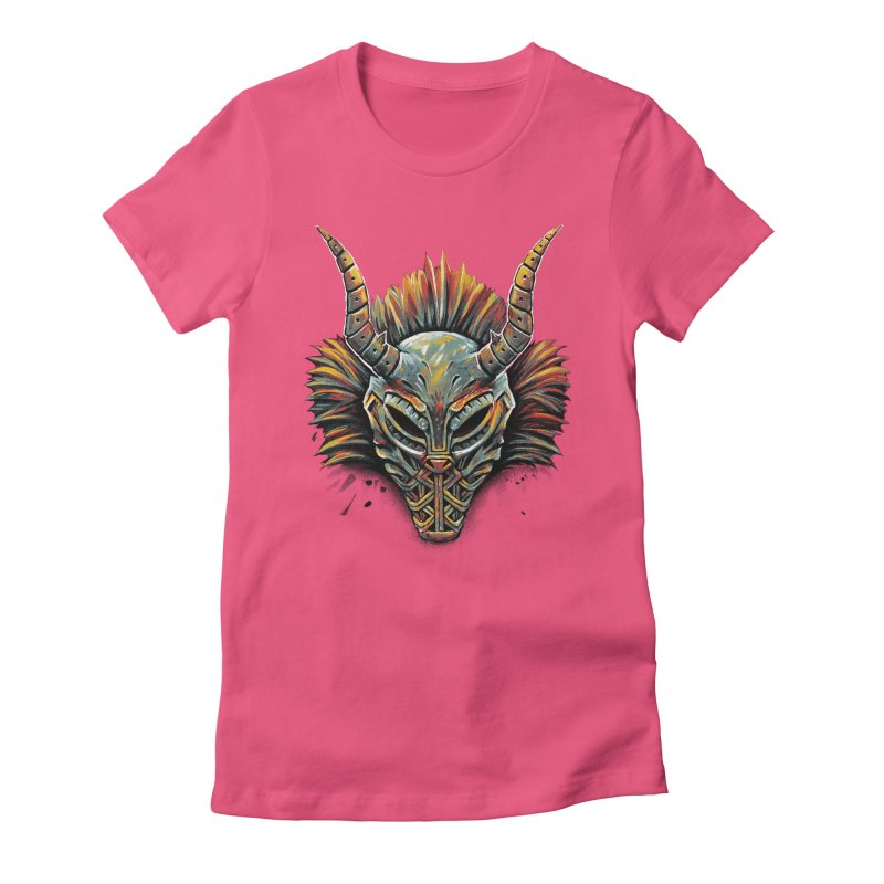 Killmonger Tribal Mask Women's Fitted T-Shirt by c0y0te7's Artist Shop