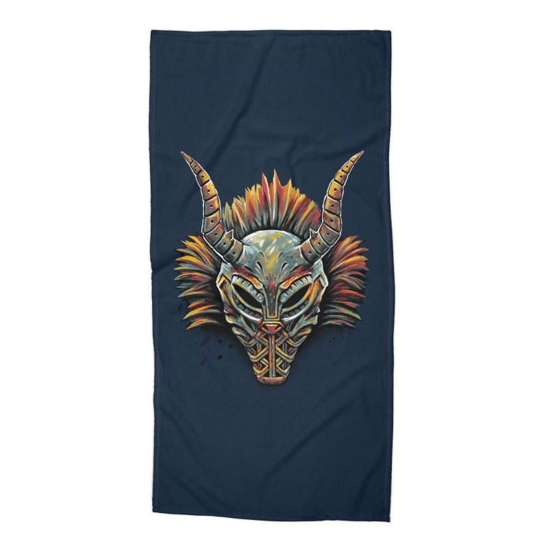 Killmonger Tribal Mask Accessories Beach Towel by c0y0te7's Artist Shop