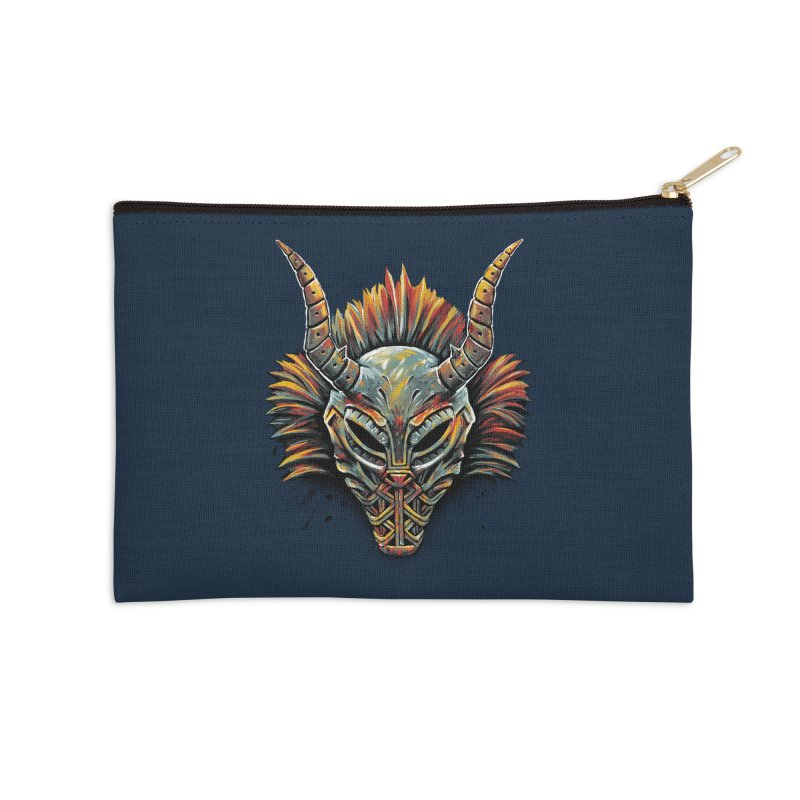 Killmonger Tribal Mask Accessories Zip Pouch by c0y0te7's Artist Shop