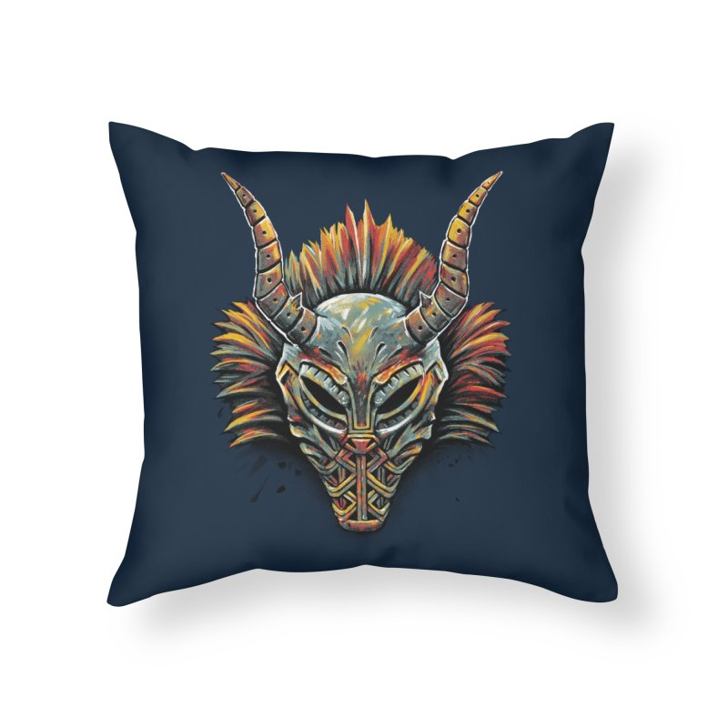 Killmonger Tribal Mask Home Throw Pillow by c0y0te7's Artist Shop