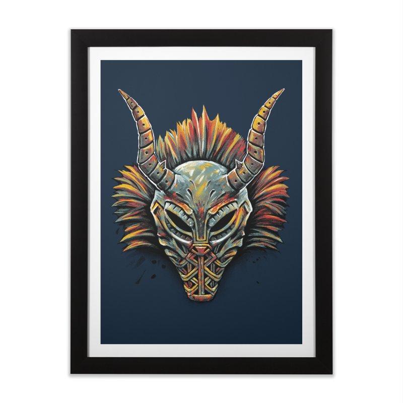Killmonger Tribal Mask Home Framed Fine Art Print by c0y0te7's Artist Shop