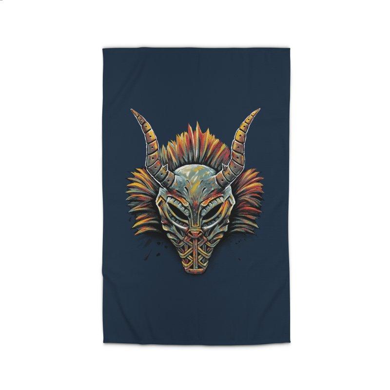 Killmonger Tribal Mask Home Rug by c0y0te7's Artist Shop
