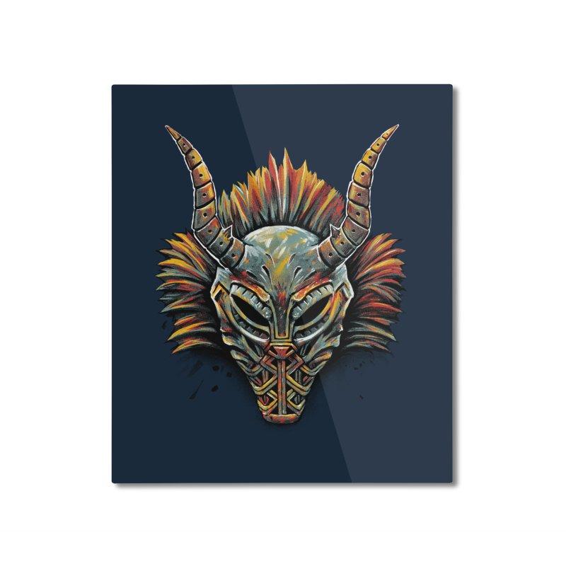 Killmonger Tribal Mask Home Mounted Aluminum Print by c0y0te7's Artist Shop