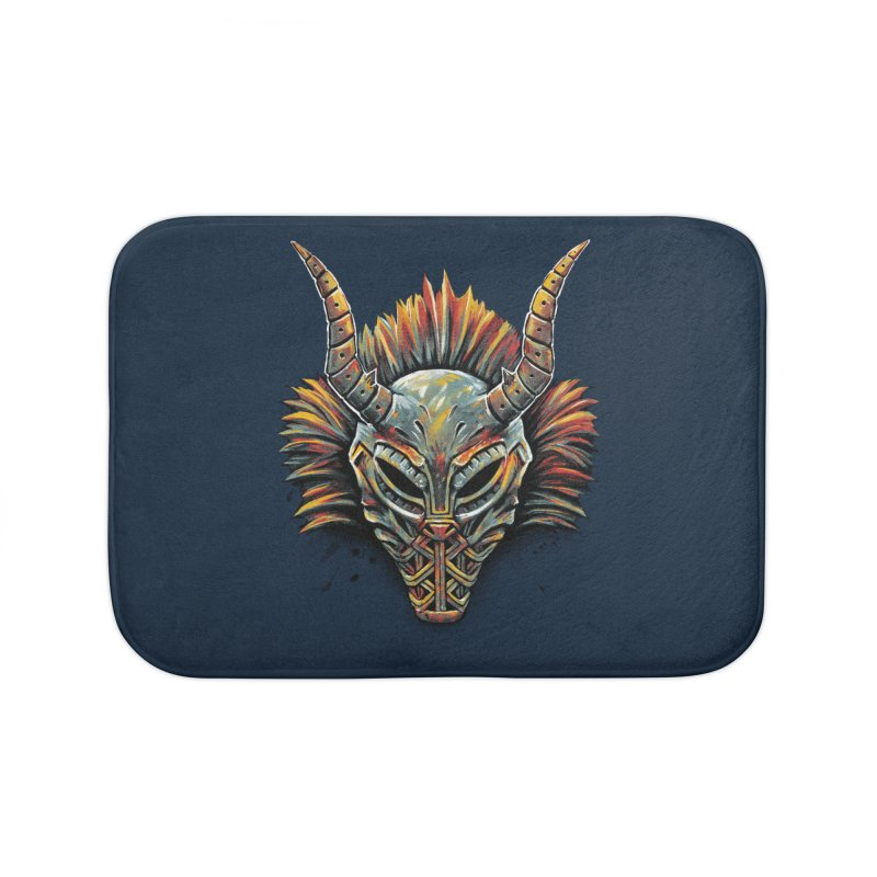 Killmonger Tribal Mask Home Bath Mat by c0y0te7's Artist Shop
