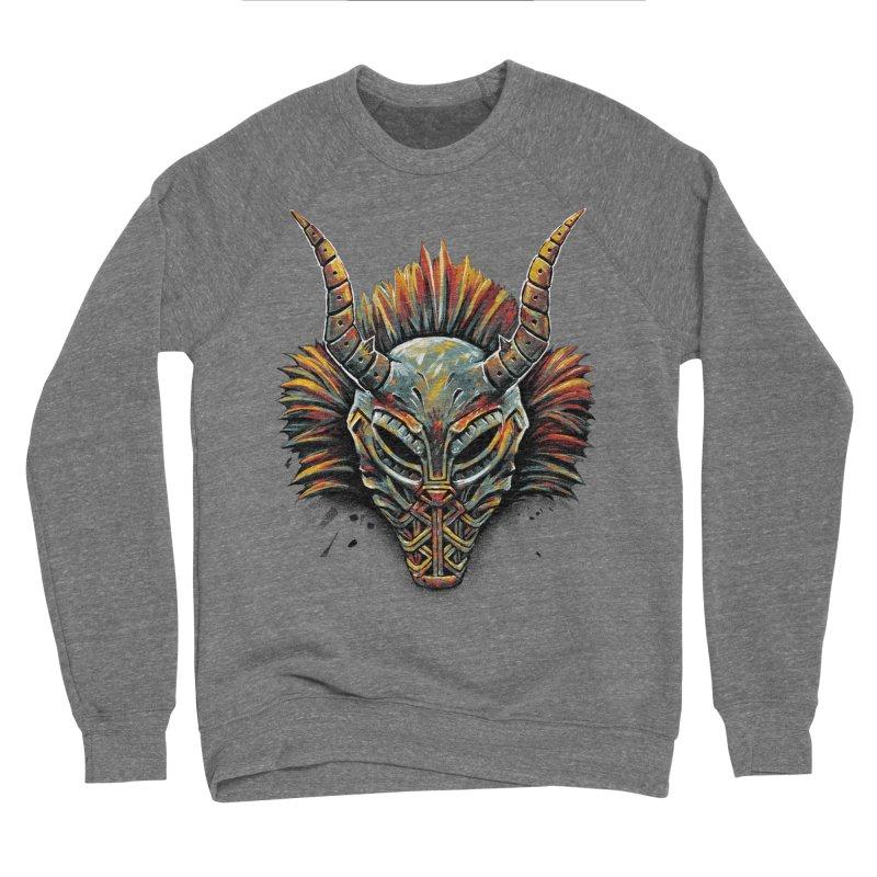 Killmonger Tribal Mask Men's Sponge Fleece Sweatshirt by c0y0te7's Artist Shop