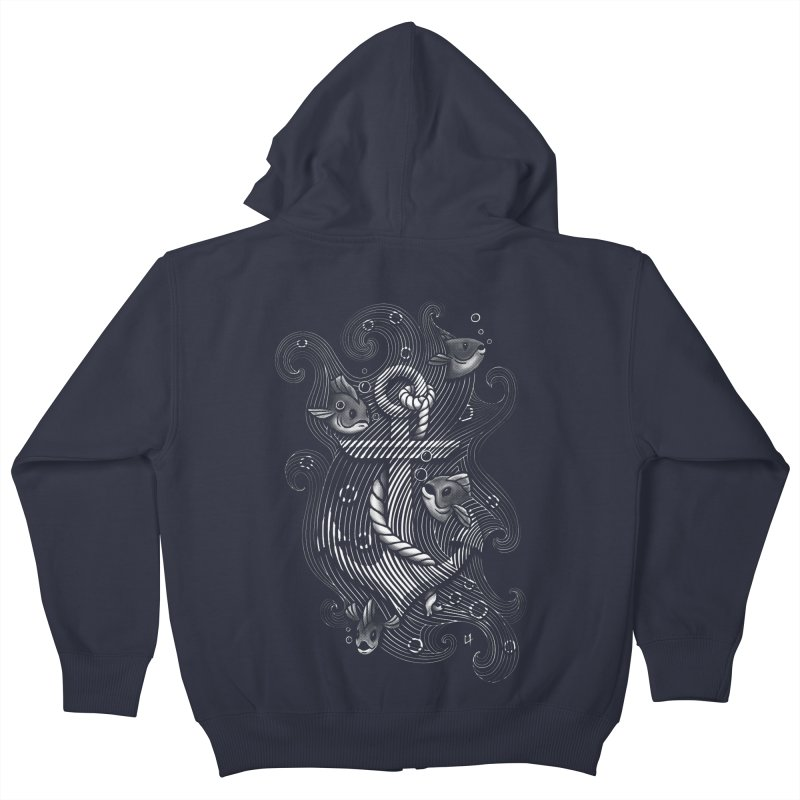 Lost Anchor Kids Zip-Up Hoody by c0y0te7's Artist Shop