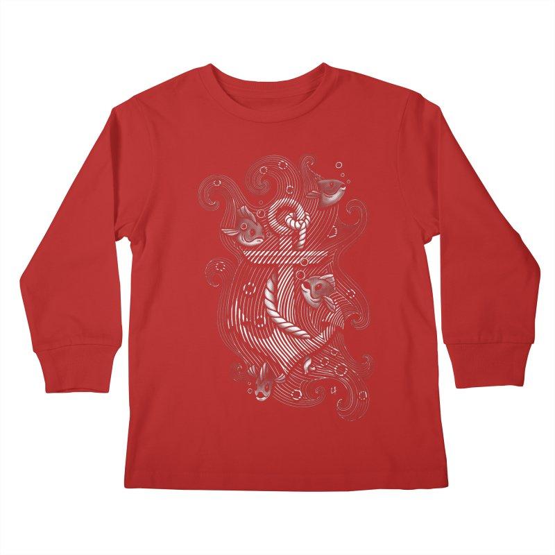 Lost Anchor Kids Longsleeve T-Shirt by c0y0te7's Artist Shop
