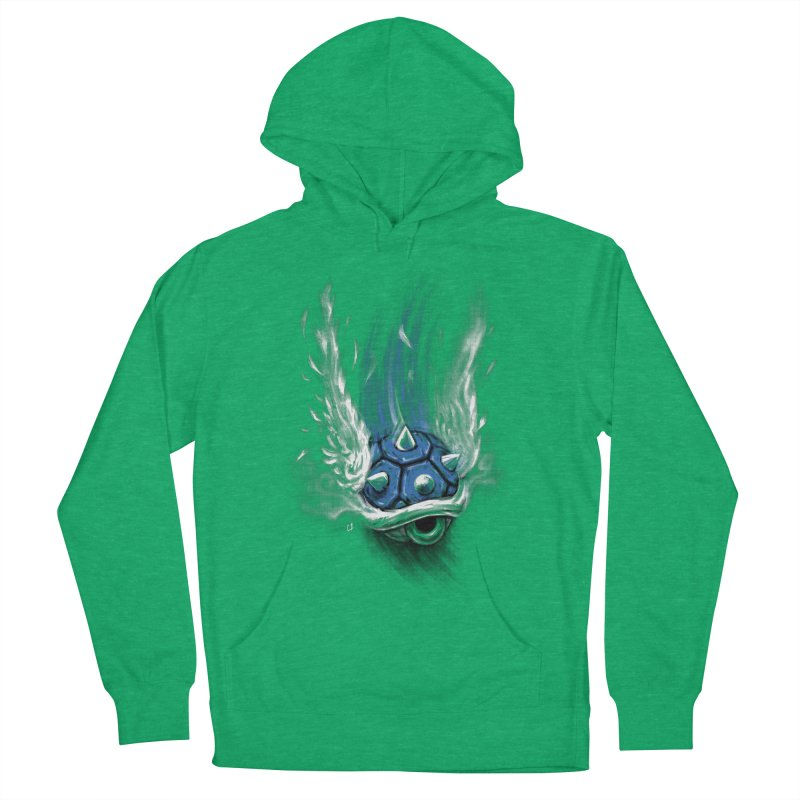 Blue Shell Attack Women's Pullover Hoody by c0y0te7's Artist Shop
