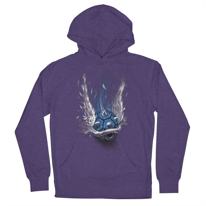 Blue Shell Attack Men's Pullover Hoody by c0y0te7's Artist Shop