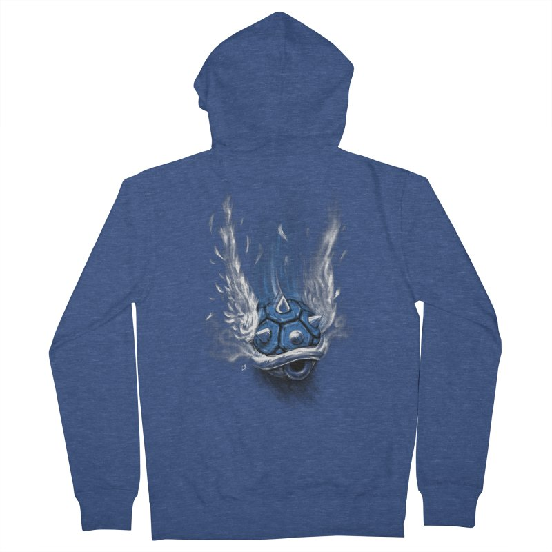 Blue Shell Attack Women's Zip-Up Hoody by c0y0te7's Artist Shop