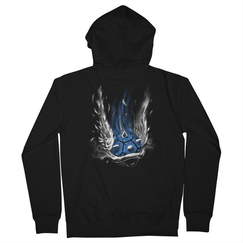 Blue Shell Attack Women's Zip-Up Hoody by c0y0te7's Artist Shop