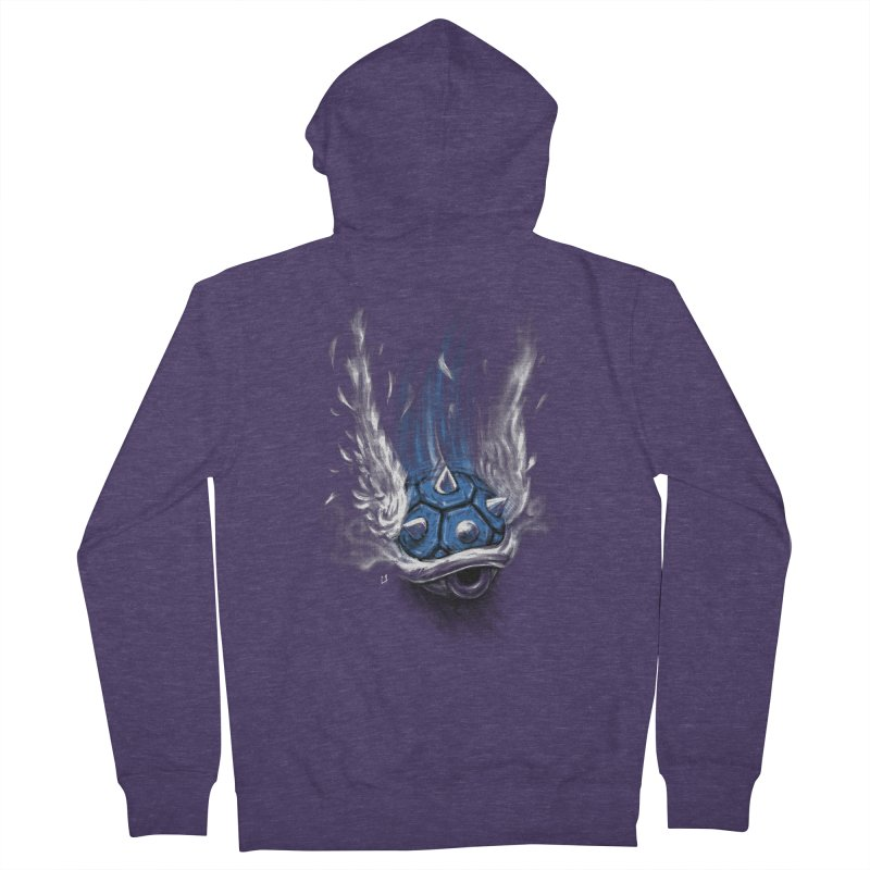 Blue Shell Attack Men's Zip-Up Hoody by c0y0te7's Artist Shop