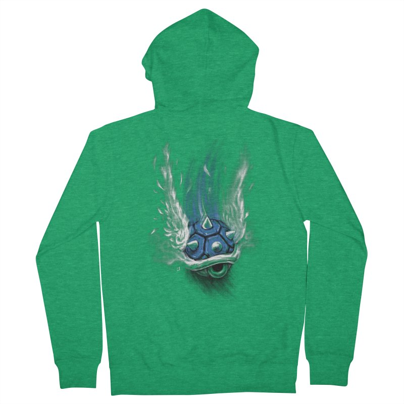 Blue Shell Attack Men's Zip-Up Hoody by c0y0te7's Artist Shop